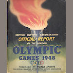 1948 London Olympic Games programmes, tickets, report