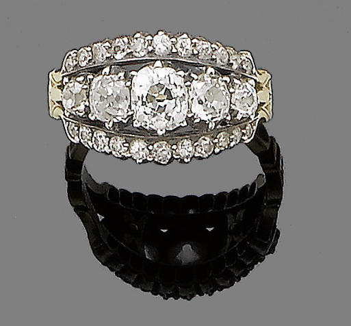 A diamond band ring,