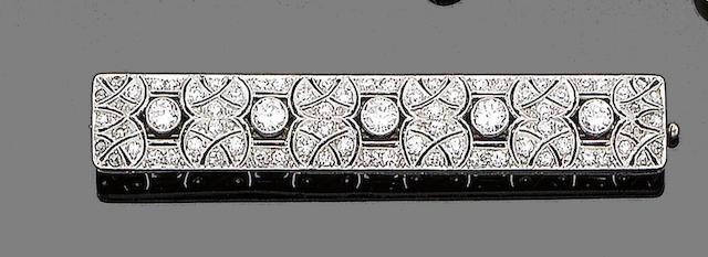 A diamond brooch,