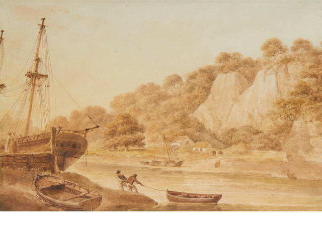 Nicholas Pocock (British, 1740-1821) On the Avon