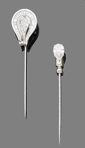Two diamond stick-pins (2)