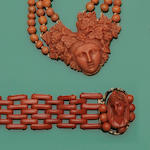 A collection of Victorian coral jewellery