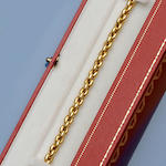 Cartier: An 18ct gold bracelet