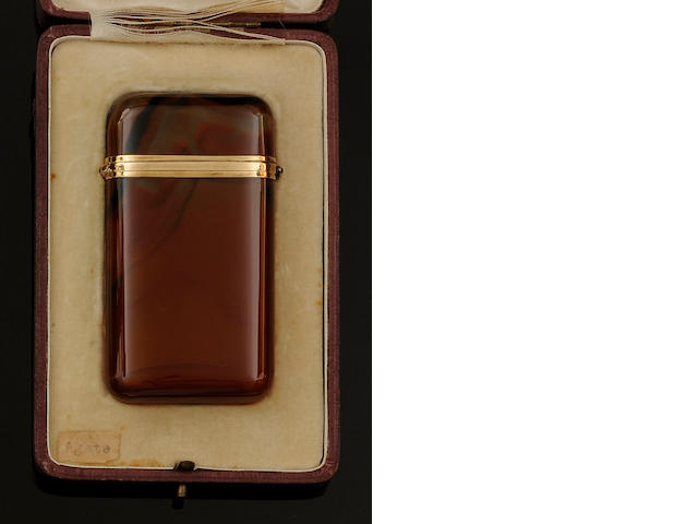 An agate card case