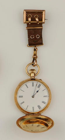 A late 19th century hunter fob watch