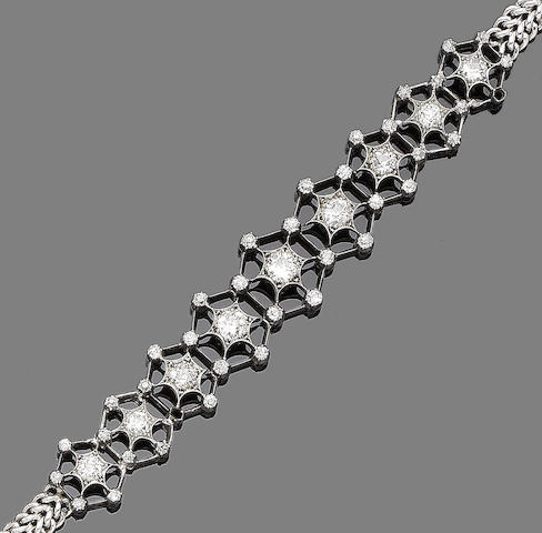 A diamond-set bracelet,