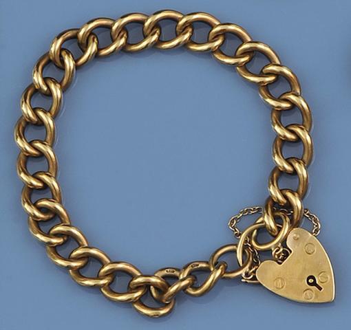 A 9ct curb-link bracelet