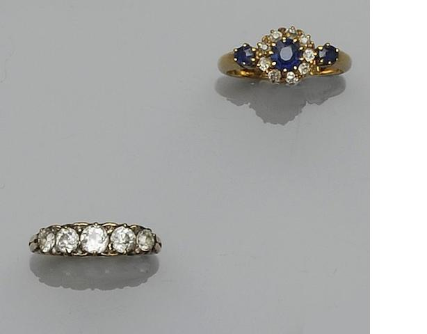 Two gem-set rings
