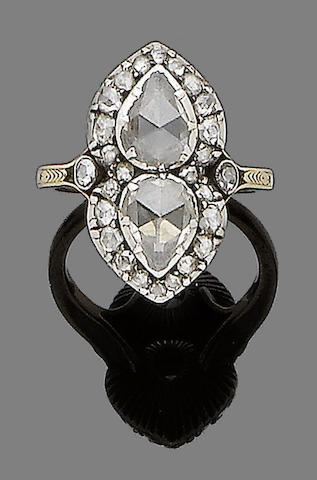An early 19th century diamond dress ring
