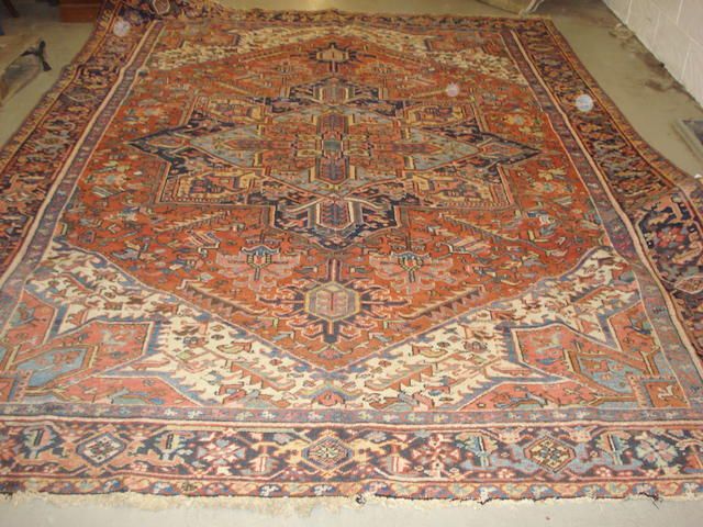 A Heriz carpet, North West Persia, 346cm x 256cm