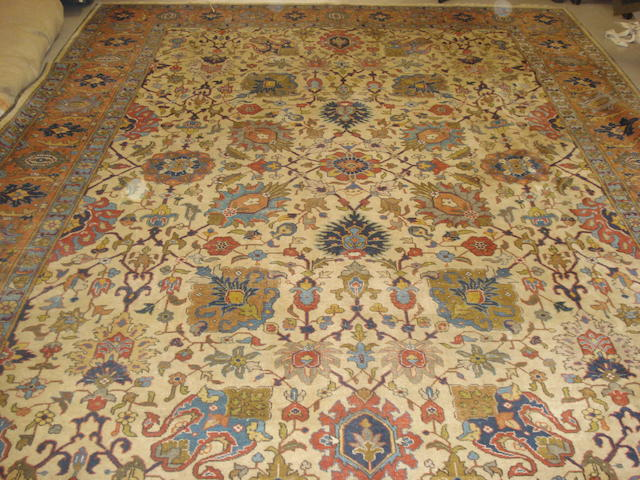 A Tabriz carpet, North West Persia, 383cm x 285cm