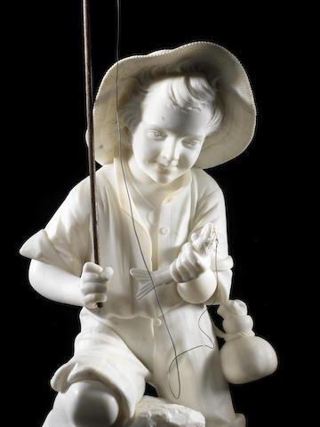 Pietro Bazzanti, Italian (1825-1895) A white marble figure of a young fisherboy Giovane Pescatore