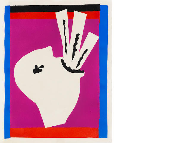 "Henri Matisse (French, 1869-1954) L'avaleur de sabres - plate 8 from ""Jazz"" Pochoir printed in colours, 1947, on Arches, from an edition of 100, published by Teriade, Paris, 390 x 300mm (15 3/8 x 11 6/8in)(I)"