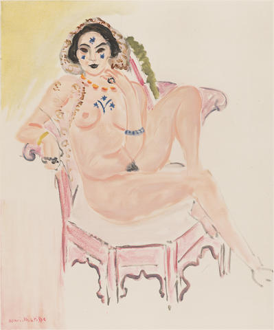 After Henri Matisse (French, 1869-1954) Nu Assis Colour lithograph, 1954, on Arches, from an edition of 300, 640 x 482mm (25 1/8 x 19in)(SH)