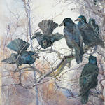 Mildred Anne Butler (Irish, 1858-1941) A murder of crows