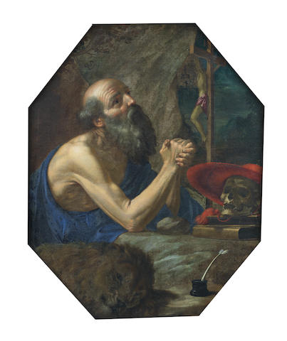 Cesare Dandini (Florence circa 1595-1658) Saint Jerome in the Wilderness