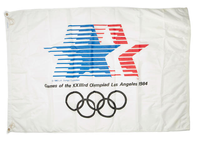 A 1984 Los Angeles Olympic Flag.