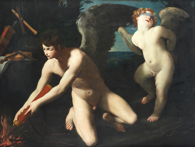 Studio of Guido Reni (Calvenzano 1575-1642 Bologna) An Allegory of Sacred and Profane Love