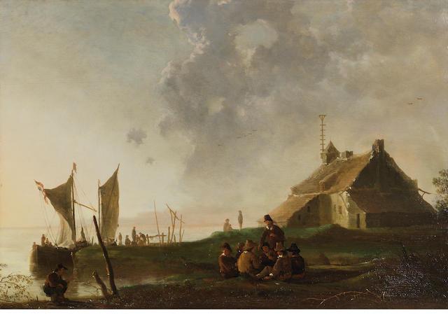Aelbert Cuyp (Dordrecht 1620-1691) The Old Ferry House, Dordrecht