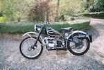 1950 Douglas 350cc T35 Trials Frame no. 9074 Engine no. 9074