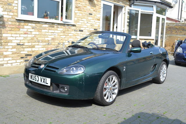 2003 MG TF Sports Roadster  Chassis no. SARRDWBKC4D623042 Engine no. 18K4FP27110644