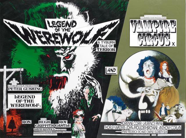 Legend of the Werewolf/ Vampire Circus - original Vic Fair double bill artwork