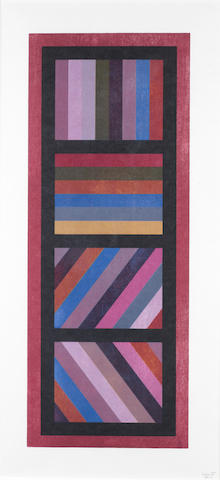 Sol LeWitt (American, 1928-2007) Composition Woodcut, signed and numbered 'TP 13' in pencil, 775 x 300mm (30 1/2 x 11 3/4in)(B)  for research