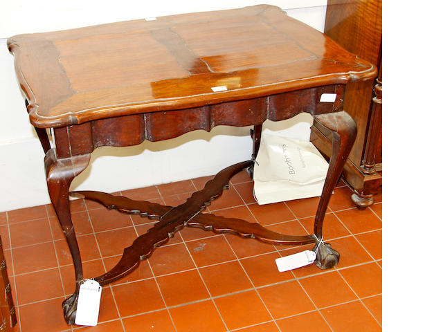 A South African yellow wood centre table,