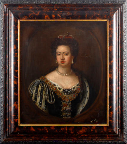 After Sir Godfrey Kneller Half length portrait of Queen Anne