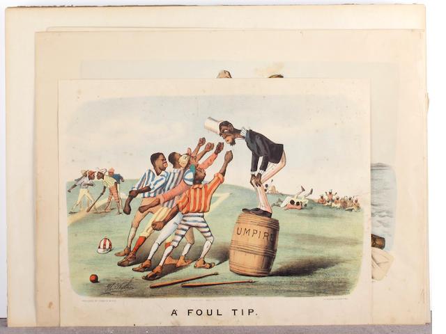 Thomas B. Worth (American, 1834-1917) 'A Foul Tip'