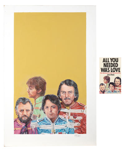 K.P. Richens: front cover artwork for 'All You Needed Was Love: The Beatles after The Beatles', circa 1981,