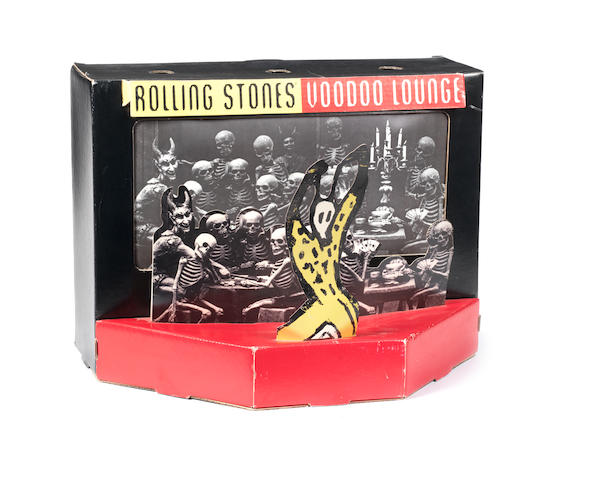 A Rolling Stones 'Voodoo Lounge' electric counter-top promo display, circa 1994,