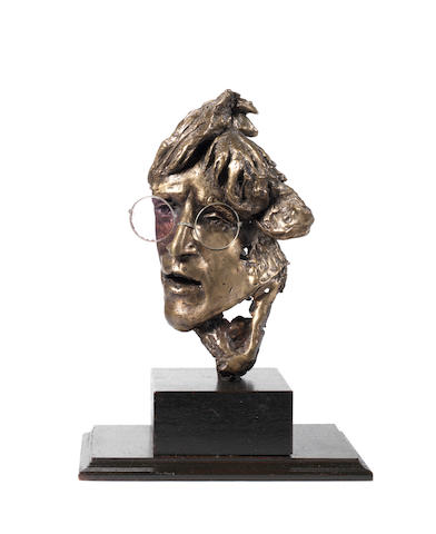 Bronze portrait of John Lennon