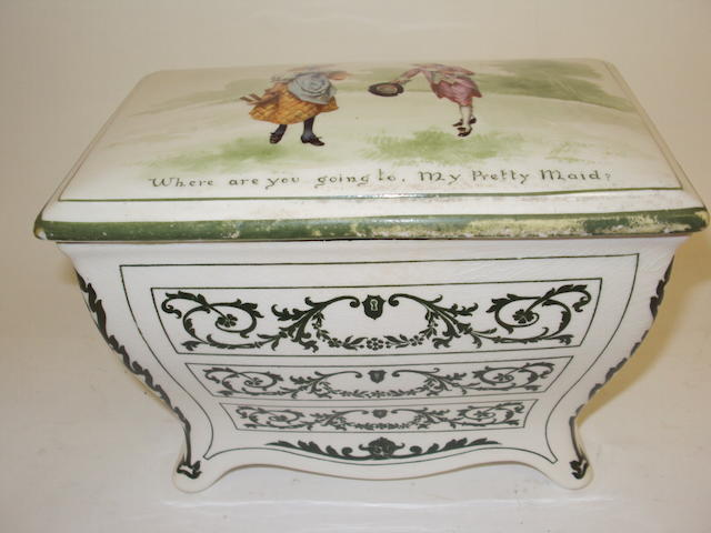 A Royal Doulton Huntley & Palmers biscuit casket and cover