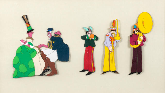 The Beatles: A 'Yellow Submarine' animation cel, King Features, 1967/1968,