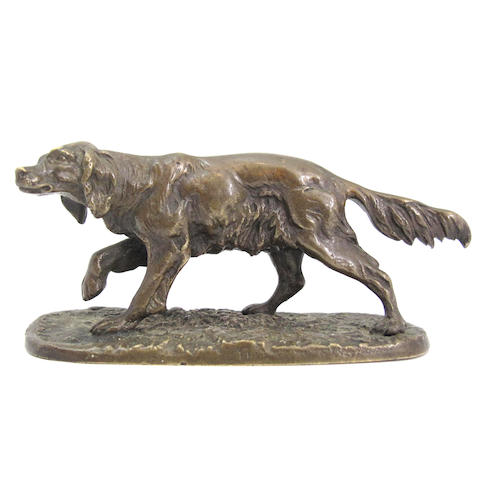 A Mene bronze of a dog (setter?)