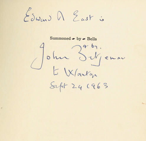 BETJEMAN (JOHN) Summoned by Bells, FIRST EDITION, 1960; and 18 others, Betjeman (19)