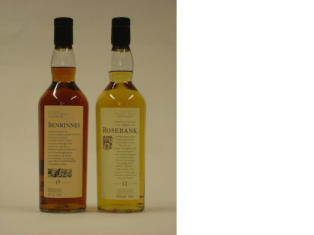 Benrinnes-15 year old<BR /> Rosebank-12 year old
