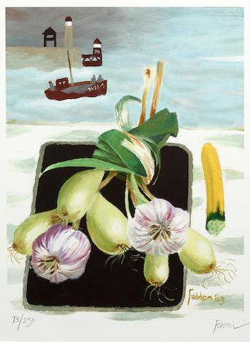 Mary Fedden R.A. (British, born 1915) Still life 2003