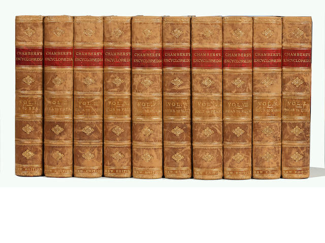 BINDINGS  Chambers's Encyclopaedia, A Dictionary of Universal Knowledge, 10 vol., 1892-1895