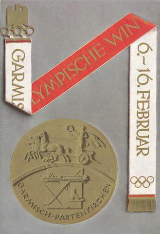 OFFICIAL REPORT IV. Olympische Winterspiele 1936. Garmisch Partenkirchen, 6-16 Februar, Berlin, Reichssportverlag, 1936