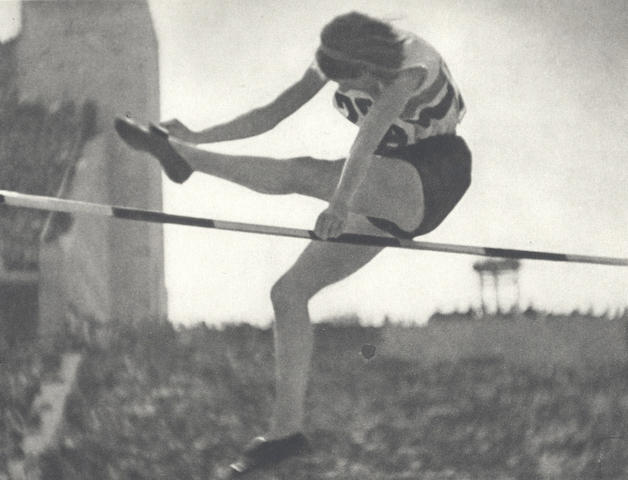 Leni Riefenstahl   Schönheit im Olympischen Kampf, Berlin, Deutschen Verlag, [1936]; together with together with two Olympia film programs, illustrated with Riefenstahl images, and a postcard (4)