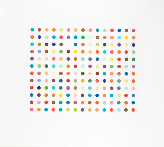 Damien Hirst (British, born 1965) Pyronin Y  Etching printed in colors, 2005, on wove, signed and numbered from the edition of 65 verso in pencil, published by Charles Booth Clibborn under his imprint the Paragon Press, London, with full margins, 1003 x 1016mm (40 1/2 x 45 3/4in)(SH)
