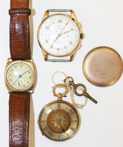 A gentleman's Coresa 18k Chronograph wristwatch 3