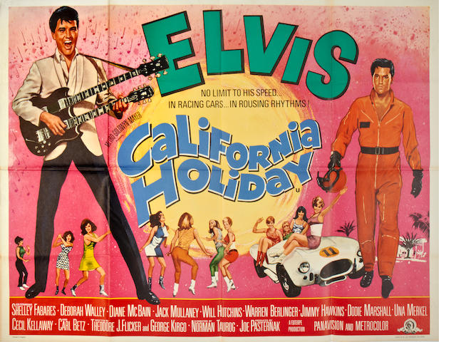 Elvis Presley: A collection of seven British Quad posters, titles including: 7