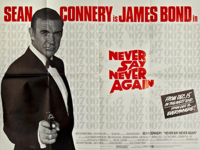 Never Say Never Again, Warner Bros., 1983, 2