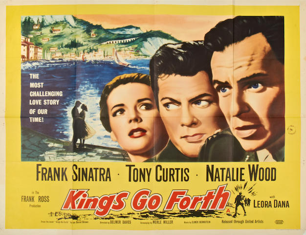 Frank Sinatra: A collection of six British Quad posters, titles including:6