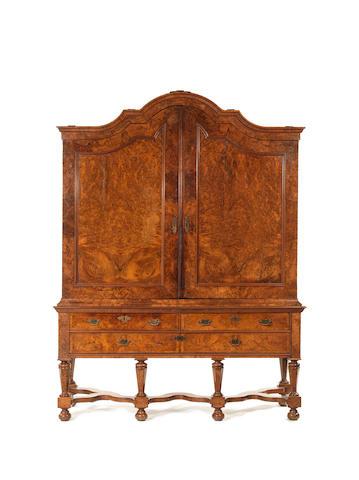 An 18th century Dutch walnut cabinet