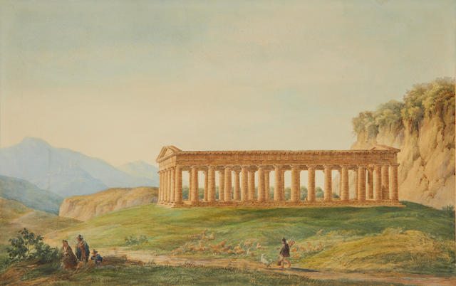 French School, 19th Century The Temple of Segesta, Sciliy