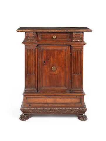 An Italian 16th century walnut cabinetprobably Bologna